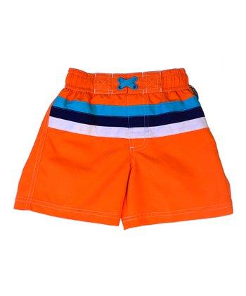 Orange Stripe Swim Trunks - Infant & Toddler