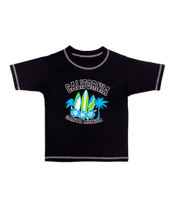 Black 'California' Rashguard - Boys
