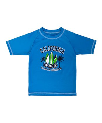 Blue 'California' Rashguard - Boys