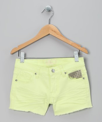 Bright Yellow Stud Shorts