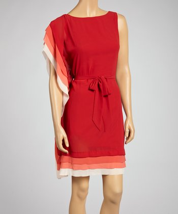 Garnet Asymmetrical Dress