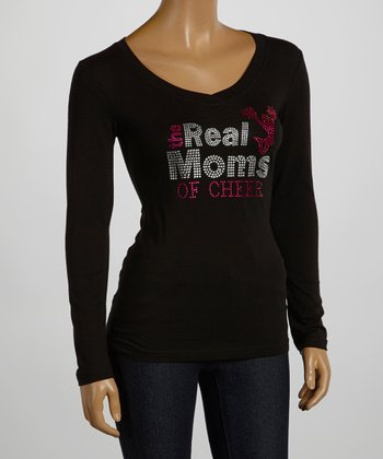 Black & Silver 'The Real Moms of Cheer' Tee - Women & Plus