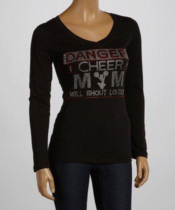 Black & Red 'Danger! Cheer Mom' Tee - Women & Plus