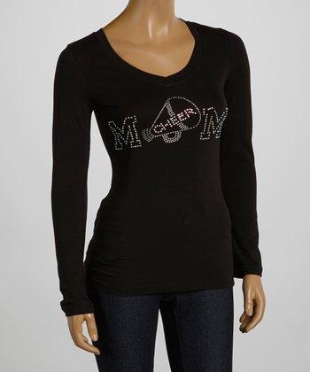Black 'Cheer Mom' Tee - Women & Plus