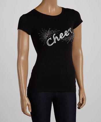 Black & Silver 'Cheer' Tee - Women & Plus