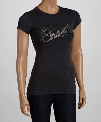 Dark Gray & Silver 'Cheer' Tee - Women & Plus