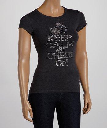 Dark Gray 'Keep Calm and Cheer On' Tee - Women & Plus