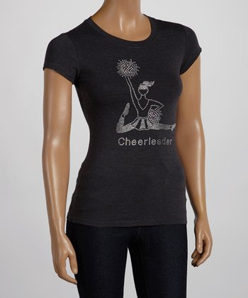 Dark Gray 'Cheerleader' Tee - Women & Plus
