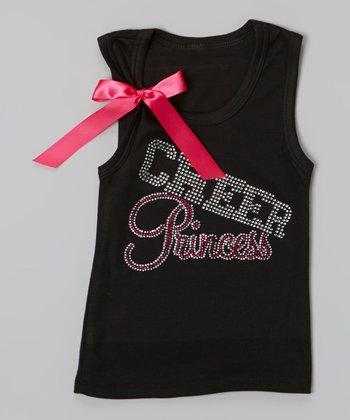 Black & Pink 'Cheer Princess' Tank - Toddler & Girls