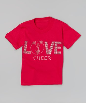 Hot Pink 'Love Cheer' Tee - Toddler & Girls