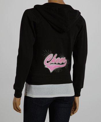 Black & Pink 'Cheer' Hoodie - Women