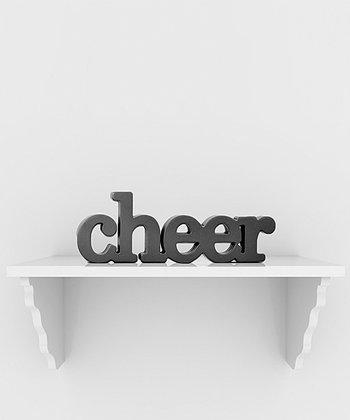 ChalkTalkSPORTS Black 'Cheer' Décor