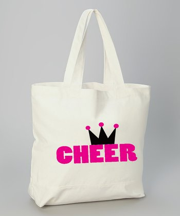 White 'Cheer' Princess Tote