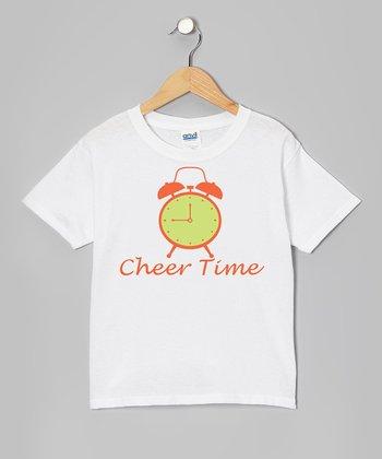 White 'Cheer Time' Tee - Girls