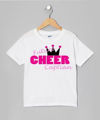 White 'Future Cheer Captain' Tee - Girls