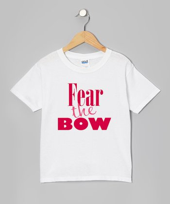 White 'Fear the Bow' Tee - Girls