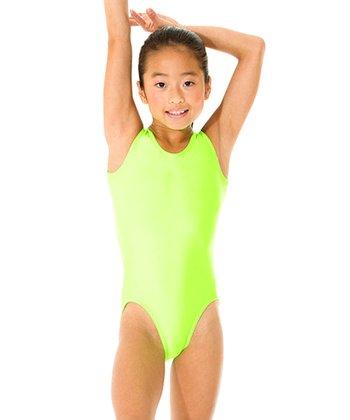 Mondor Neon Green Leotard - Girls
