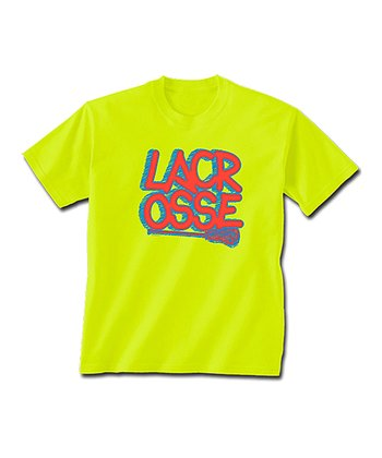 ChalkTalkSPORTS Safety Neon 'Lacrosse' Tee - Kids