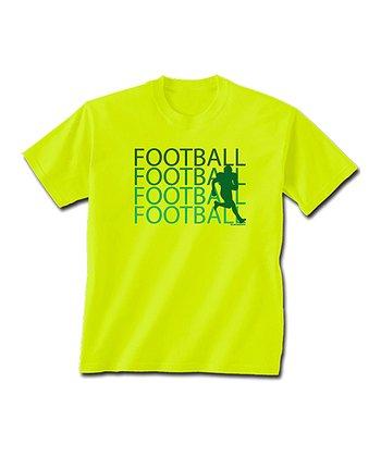 ChalkTalkSPORTS Safety Neon Football Fade Tee - Boys
