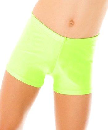 Mondor Neon Lime Shorts - Girls