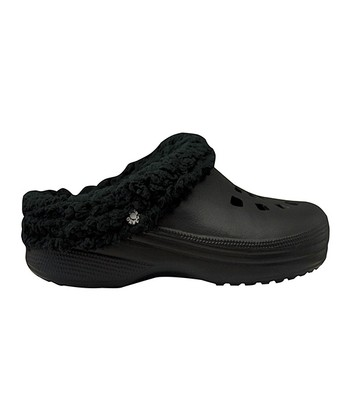 Black Fleece Clog