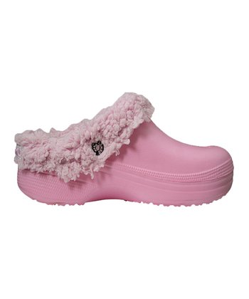 Soft Pink Fleece Clog