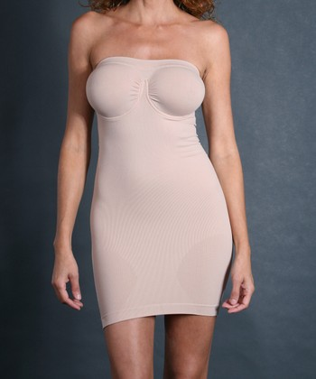 Nude Underwire Shaper Strapless Slip - Women & Plus