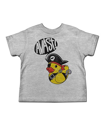 Heather Gray 'Avast!' Pirate Ducky Tee - Toddler & Kids