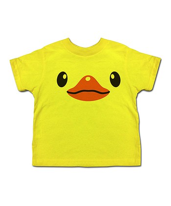 Yellow Duck Face Tee - Toddler & Kids