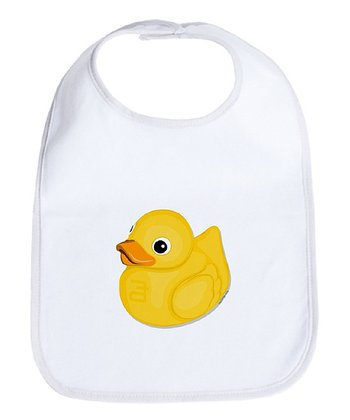 Cloud White Rubber Ducky Bib