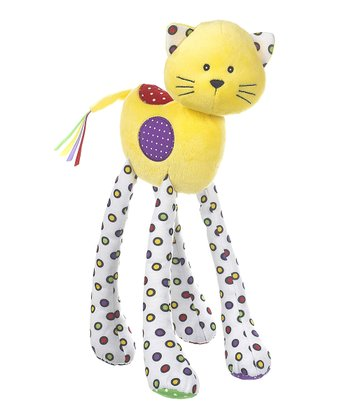GANZ Yellow Lookie-Loo Cat Plush Toy