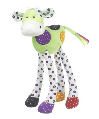 GANZ Light Green Lookie-Loo Cow Plush Toy