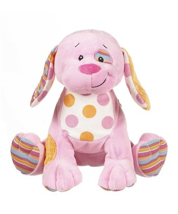 GANZ Pink Cuddly Calico Puppy Plush Toy
