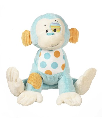 GANZ Light Blue Cuddly Calico Monkey Plush Toy