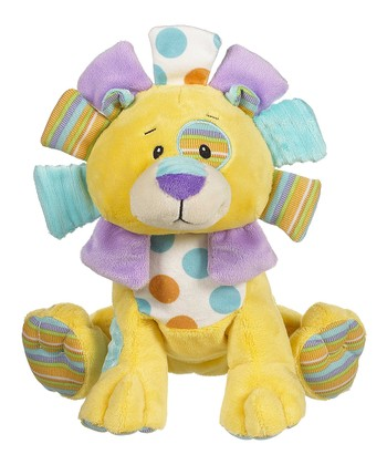 GANZ Yellow Cuddly Calico Lion Plush Toy