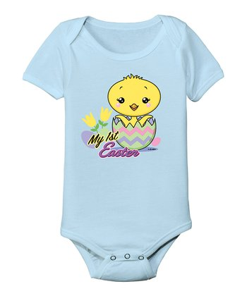 Light Blue 'My First Easter' Bodysuit - Infant