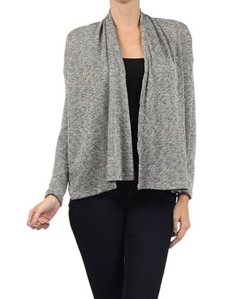 Heather Charcoal Open Cardigan