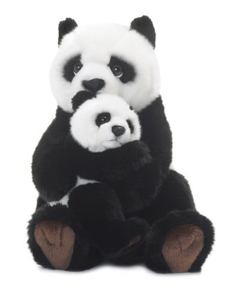 Panda Mother & Child Plush Toy
