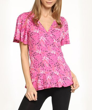 Bloom Flutter Surplice Top