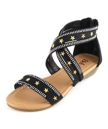Bella Marie Black Star Sandal
