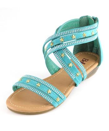 Bella Marie Emerald Star Sandal