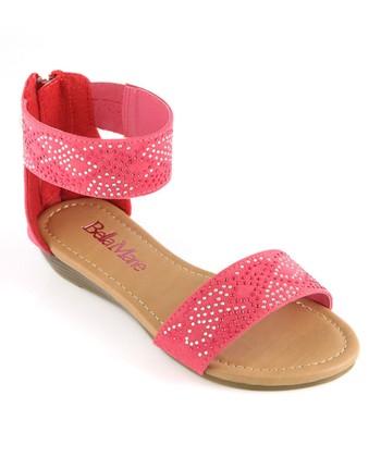 Bella Marie Strawberry Ankle Strap Sandal