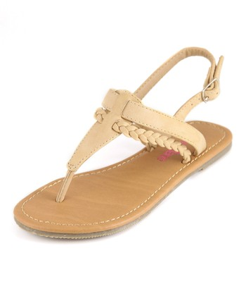 Bella Marie Beige T-Strap Sandal