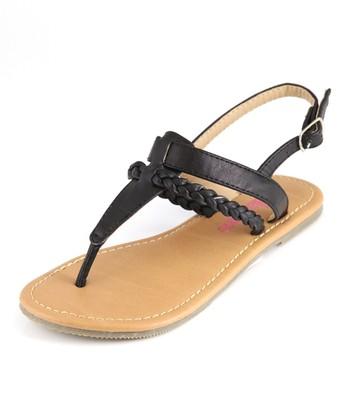 Bella Marie Black T-Strap Sandal