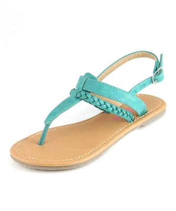 Bella Marie Emerald T-Strap Sandal