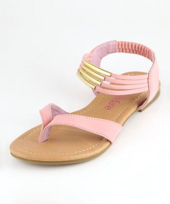 Bella Marie Blush Strappy Ankle Sandal
