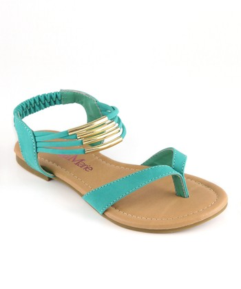 Bella Marie Emerald Strappy Ankle Sandal