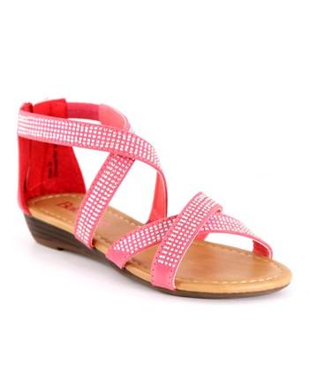 Bella Marie Strawberry Cross Strap Sandal