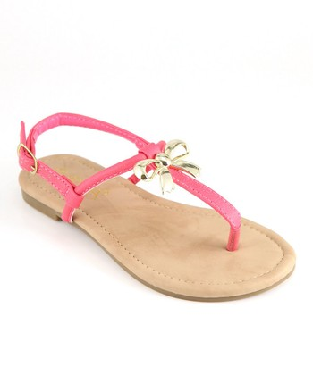 Anna Shoes Pink Bow Sandal