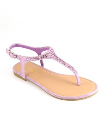 Anna Shoes Lavender Rhinestone Sandal